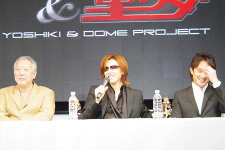 「童夢」林オーナー、YOSHIKI、チーム・ドライバー 道上龍