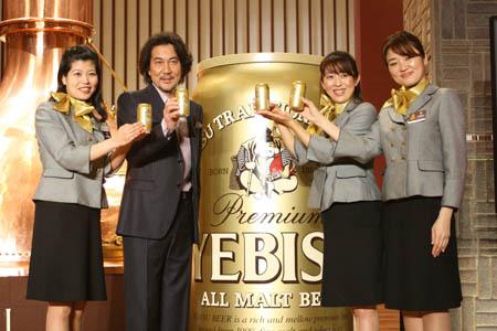 ヱビスビール新CMに出演する役所広司