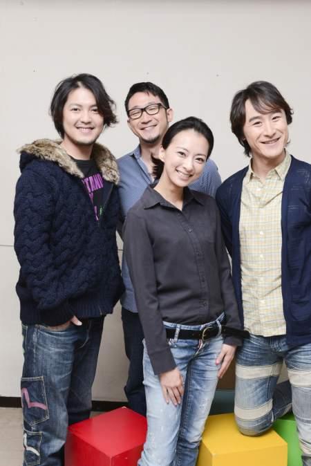 (左より)加治将樹、梅宮万紗子、曽世海司、(後ろ)矢島弘一 撮影:源 賀津己