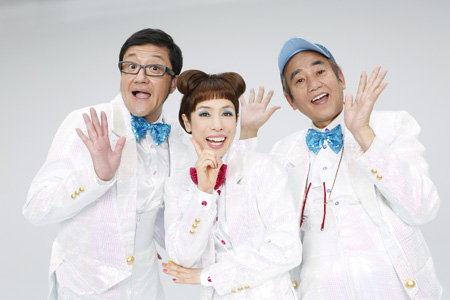 左から、大久保ノブオ、久本雅美、喰始  撮影:西村康