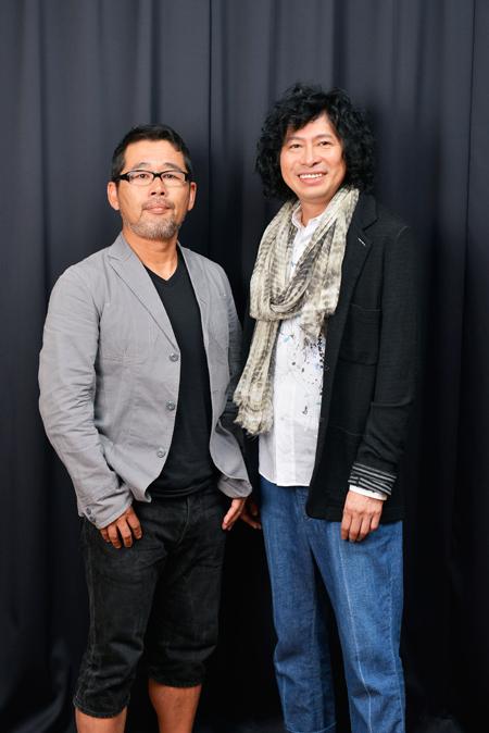 左から、藤村忠寿、鈴井貴之  撮影:源 賀津己