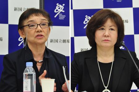 左から、大原永子、宮田慶子