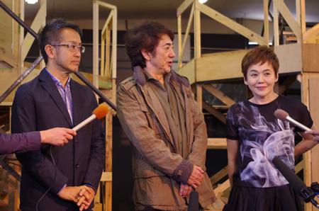 左から、宮本亜門、市村正親、大竹しのぶ
