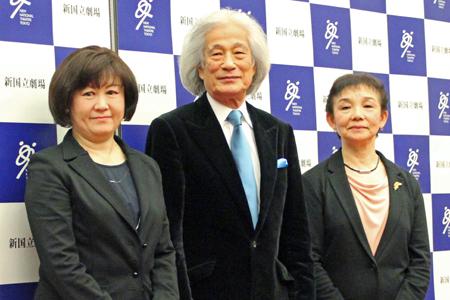 写真中央:飯守泰次郎(新国立劇場オペラ芸術監督)
