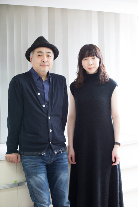松尾スズキと平岩紙  撮影:石阪大輔