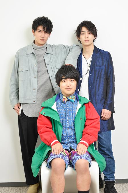 左から、青木玄徳、加藤諒、佐奈宏紀  撮影:源賀津己