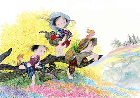 「春の風」2011年 (C)中島潔