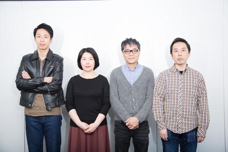 (画像左から)大倉孝二、池谷のぶえ、いとうせいこう、ブルー&スカイ 撮影:石阪大輔
