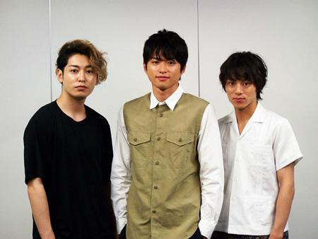 (画像左から)川原一馬、白洲迅、永田崇人