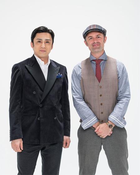 (画像左から)十代目松本幸四郎、アダム・エドッシー 撮影:引地信彦
