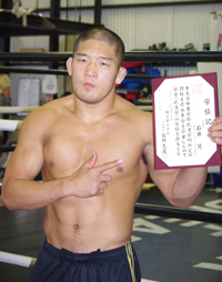 石井慧:筋肉披露と卒業報告