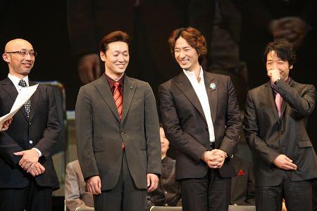 ジャベール役の4人。写真左から、KENTARO、今拓哉、岡幸二郎、石川禅
