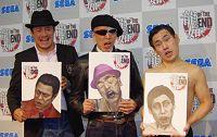 写真左から、デビット伊東、テリー伊藤、エスパー伊東