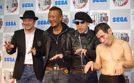 写真左から、デビット伊東、総合監督・名越稔洋、テリー伊藤、エスパー伊東