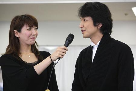 『エリザベート』稽古場より 瀬奈じゅんと岡田浩暉