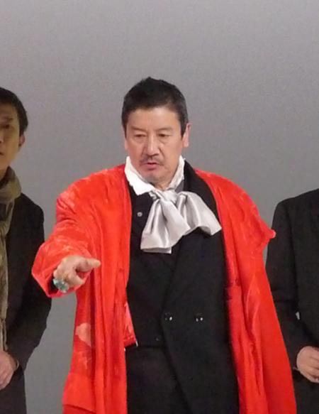 『サロメ』舞台稽古より(奥田瑛二)