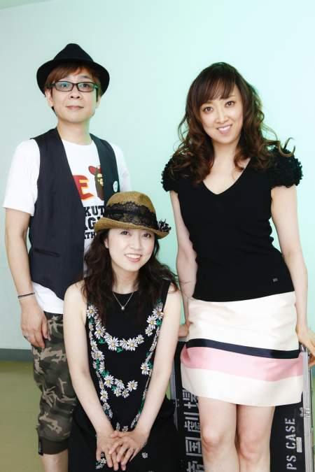 左から山寺宏一、林原めぐみ、紫吹淳 (撮影:西村康)