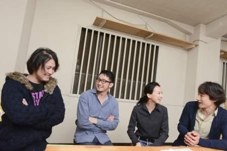 (左より)加治将樹、矢島弘一、梅宮万紗子、曽世海司 撮影:源 賀津己