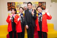(写真左から)小川菜摘、月亭方正、貴乃花親方、ココリコ・遠藤