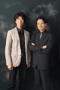 左から、仲村トオル、白井晃  撮影:源 賀津己
