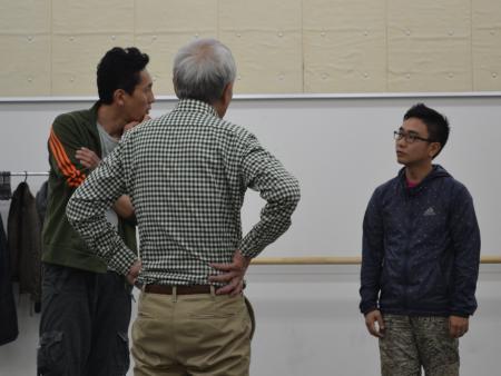 左から松重豊、松本雄吉、八嶋智人