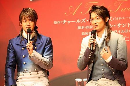 左から、浦井健治、井上芳雄