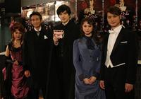 会見より。左から、マルシア、吉田栄作、城田優、山下リオ、日野真一郎