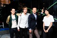 左から、岡野康弘、今村圭祐、近藤芳正、相楽樹