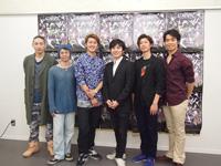 左から、辻本知彦、蔡暁強、JOEY BENI、吉本真悟、西岡憲吾、清水健太