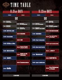 Ozzfest Japan 2015 タイムテーブル