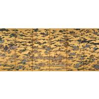 「戦国時代展」で展示される、《国宝 上杉本 洛中外図屏風 左隻 狩野永徳 16世紀後期 米澤氏上杉博物館蔵》 ※京都会場で展示