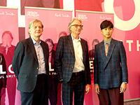 (左)ロンドンのデザイン・ミュージアム館長デヤン・スジック (中央)ポール・スミス (右)スペシャルアンバサダー 松田翔太