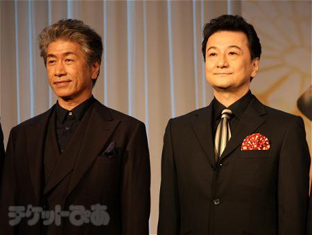 フロロー役候補(左から 野中万寿夫、芝清道)