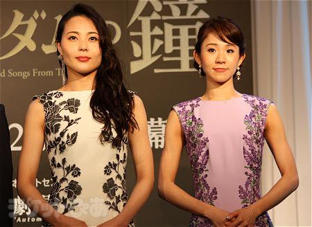 エスメラルダ役候補(左から 岡村美南、宮田愛)