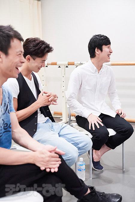 左から 蔡暁強 大野幸人 吉本真悟 撮影:早川達也