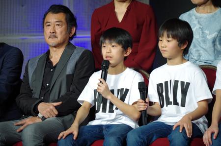 左から、吉田鋼太郎、加藤航世、木村咲哉
