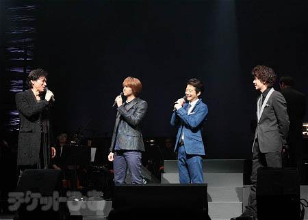 『デスノート THE CONCERT』より。左から、石井一孝、浦井健治、小池徹平、柿澤勇人