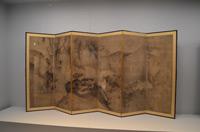 雪村筆《花鳥図屏風》重要文化財 奈良・大和文華館蔵【展示期間:3月28日~4月23日】
