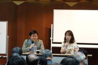 「音楽レクチャー」より 左から、園田隆一郎、加羽沢美濃