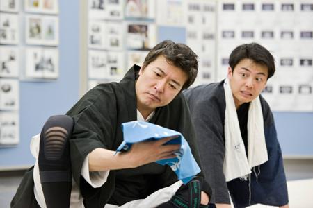 明後日プロデュースVol.2 芝居噺「名人長二」稽古場より 撮影:源賀津己