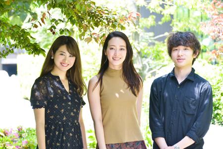 左から、飛鳥凛、上野なつひ、加藤拓也
