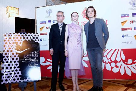 (左から)ワディム・レーピン、スヴェトラーナ・ザハーロワ、デニス・ロヂキン  (C)H.Iwakiri