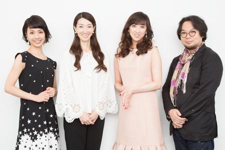 左から、妃海風、春野寿美礼、紫吹淳、藤沢文翁  撮影:石阪大輔