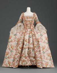 《ドレス(3つのパーツからなる)》1770年頃 The Elizabeth Day McCormick Collection 43.1643a-c