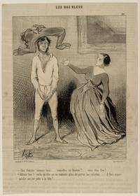 オノレ・ドーミエ《〈青鞜派〉第28図(『シャリヴァリ』1844年5月23日)》1844年 Bequest of William Perkins Babcock 00.1971.28