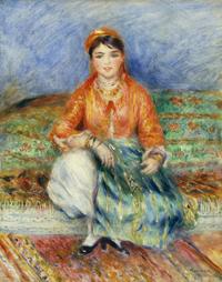 ピエール=オーギュスト・ルノワール《アルジェリアの娘》1881年 Juliana Cheney Edwards Collection 39.677