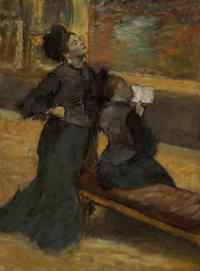 エドガー・ドガ《美術館にて》1879-90年頃 Gift of Mr. and Mrs. John McAndrew 69.49
