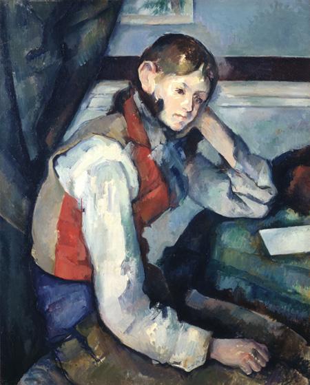 ポール・セザンヌ《赤いチョッキの少年》