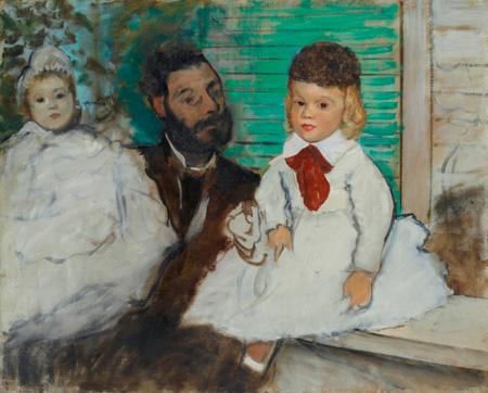 エドガー・ドガ《リュドヴィック・ルピック伯爵とその娘たち》