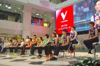 『2017/18 V・プレミアリーグ男女開幕』記者会見に臨んだ女子選手一同
